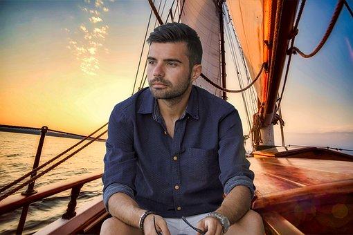 Sailing Boat, Waters, Sea, Travel, Panfilo, Man, Sailor