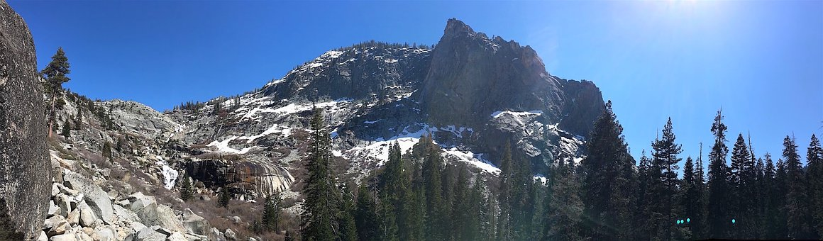 Panoramic, Mountain, Snow, Nature, Landscape, Sky, Sun