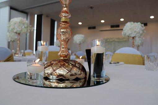 Table, Luxury, Lamp, Inside, Hotel, Wedding
