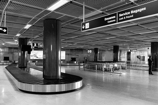 Airport, Terminal, Arrivals, Luggage Conveyor