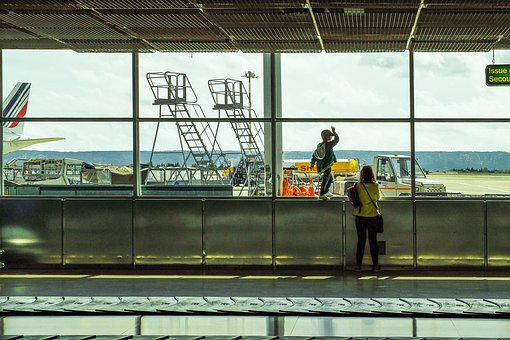 Airport, Terminal, Arrivals, Transportation, Window
