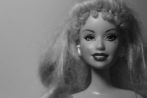 Portrait, A, Barbie, Doll, Face, Beautiful, Toys, Blond
