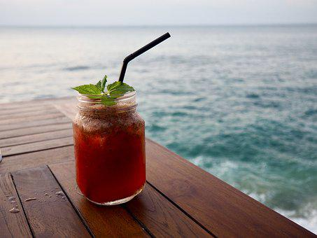 Tropical, Drink, Summer, Cocktail, Glass, Travel, Beach