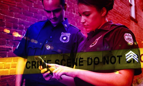Police, Crime Scene, Blue Light, Discovery