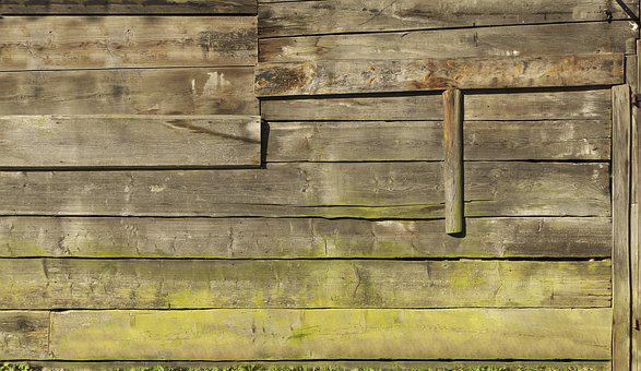 Wooden Boards, Boards, Wooden Wall, Facade, Barn, Old