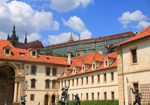 Castle, Prague, Czechia, Palace, Cathedral, Church