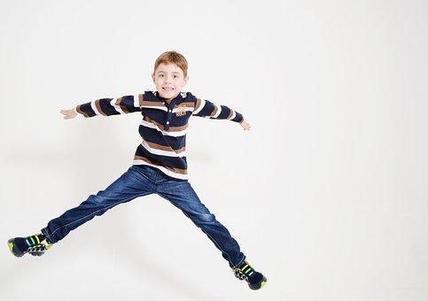 Action, Fun, Jump, Child