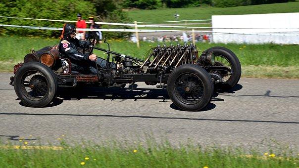Hillclimb, Oldtimer, Racing Car, Delahaye 107 Racer