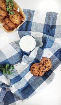 Food, Drinks, Cookies, Milk, Kitchen, Flatley