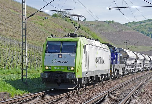 Freight Train, Private Railway, Diesel Locomotive
