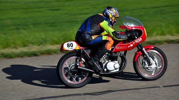 Motorcycle, Hillclimb, Oldtimer, Motorcycling