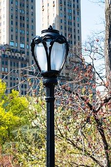 Street Lamp, New York City, Central Park, Lamp, City