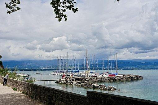 Marina, Harbor, Yachts, Mooring, Sea, Water, Seashore