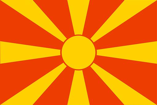 Macedonia, Flag, Republic, National, Ensign, Macedonian