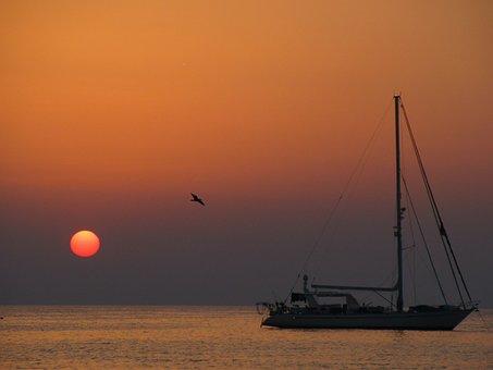 Sunset, Sea, Sun, Waters, Dawn, Dusk, Ocean, Beach