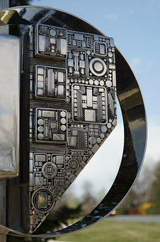 Old, Technology, Industry, Modern, Sculpture, Silver