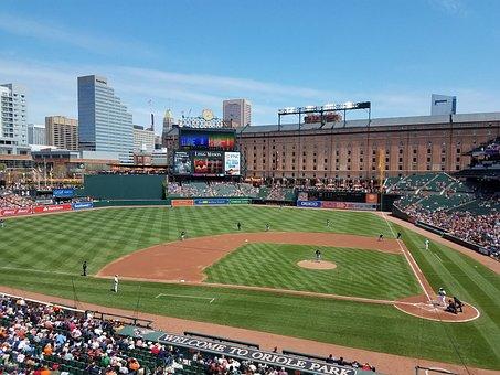 Baseball, Horizontal Plane, Stadium, City, Outdoors