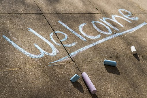 Welcome, Chalk, Flashlights, Paint, Painting, Art