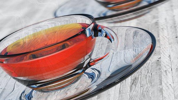 Food, Closeup, Refreshment, Drink, Glass, Teacup, Made