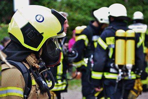 Human, Helm, Fire, Uniform, Respiratory Protection, Use
