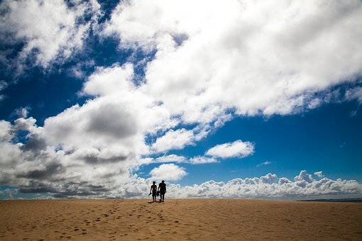 Silhouettes, Sand, Desert, Nature, Sky, Outdoors