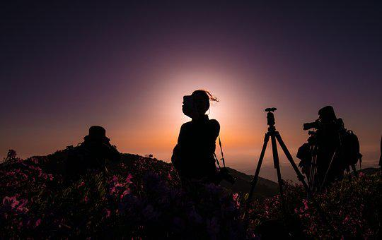 Sunset, Silhouette, Scenery, Heaven, Quest, Mountain