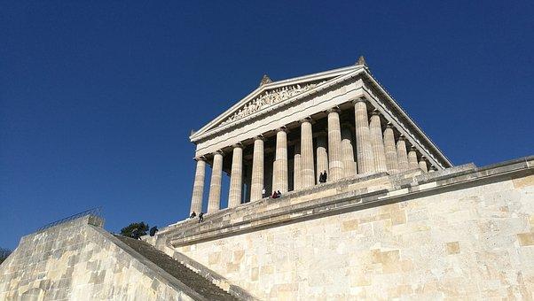 Architecture, Sky, Pillar, Travel, Building, Walhalla