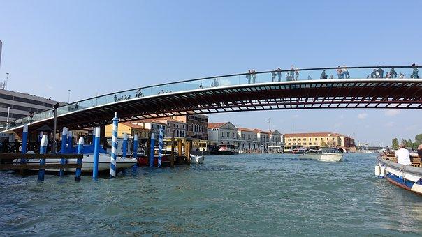 The Body Of Water, Bridge, Travel, River, City