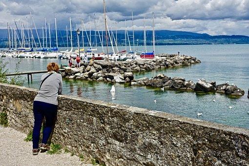 Marina, Yachts, Moorings, Water, Sea, Seashore, Travel