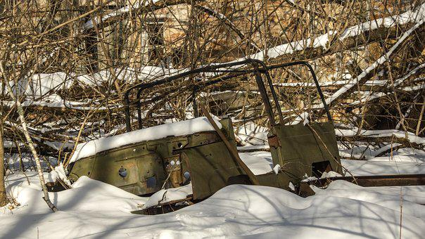 Car, Jeep, Snow, Exclusion Zone, Winter, Nature