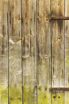 Wooden Boards, Boards, Wooden Gate, Barn, Old