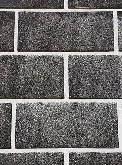 Bricks, Abstract, Black And White, Monochrome, Wall
