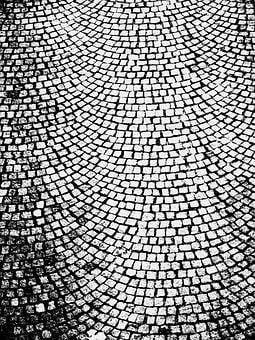 Black And White, Cobble Stone, Surface, Background