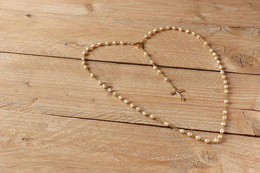 The Rosary, Prayer, First Communion, Beads, Cross, Pray