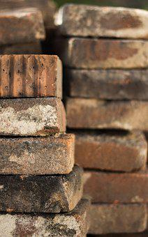 Bricks, Construction Site, Pile, Atmosphere
