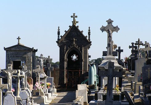 Cemetery, Grave Stones, Crypt, Old Cemetery, Graves