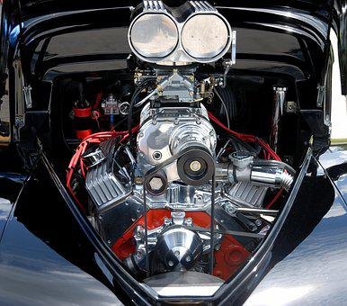 Car Engine, High Performance, Customized, Chrome