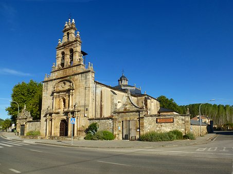 Church, Spain, Architecture, Facade, Way Of St James