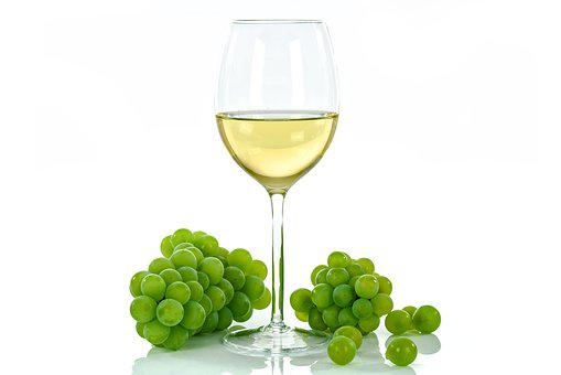White Wine, Cup, Glass, An Isolated, The Background