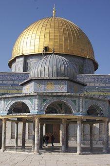 Dome Of The Rock, Islam, Jerusalem, Dome, Rock, Israel