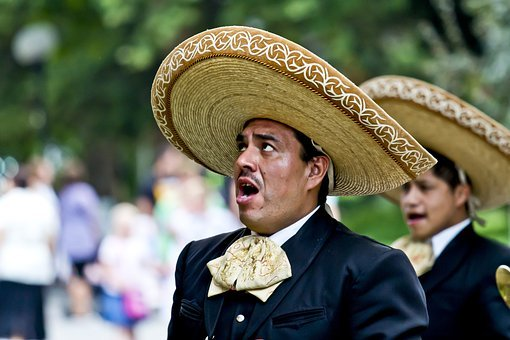Singer, Mexicans, Sing, Man, Hat, Dressed Up, Face