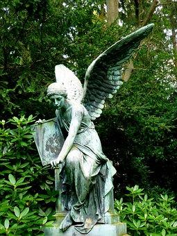 Angel, Sculpture, Angel Sculpture, Female, Fig