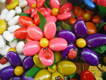 Flower, Candy, Confectionery, Ladybug, Color, Dragees