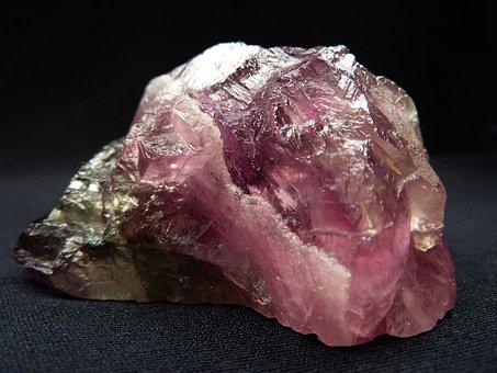Fluorite, Fluorspar, Glass Gloss, Violet, Pink