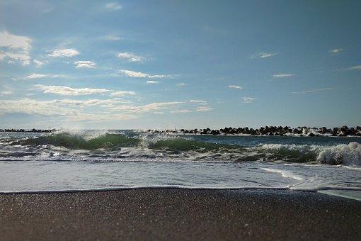 Sky, Sea, Beach, Wave, Foam, Bubble, Natural, Landscape
