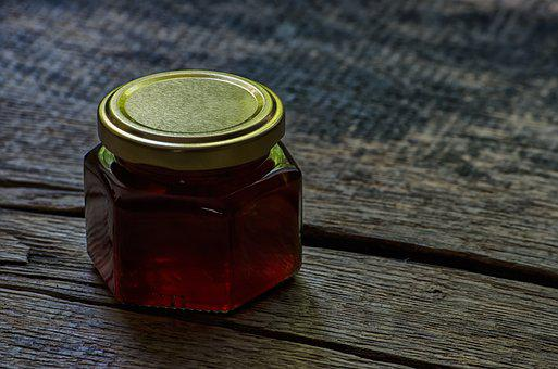 Honey, Jar, Wood, Texture, Sweet, Food, Natural