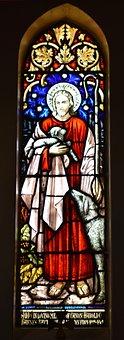 Stained Glass, Window, Good Shepherd