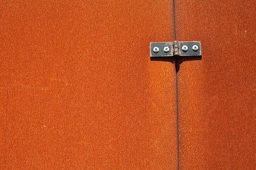 Hinge, Abstract, Corten, Structure, Rust, Background