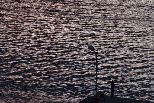 Marine, Man, Landscape, Twilight, Evening