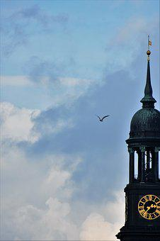 Hamburg, Michel, Steeple, Hanseatic City, Port